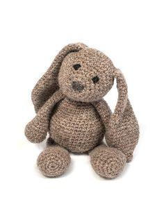 Crochet Bunny Rabbit Amigurumi Pattern: British alpaca DK rabbit.