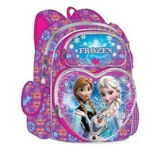 Disney Frozen Snowflake 16   - Click image twice - See a larger selection of little girls backpacks at http://kidsbackpackstore.com/product-category/little-girls-backpack/ - kids, juniors, back to school, kids fashion ideas, school supplies, backpack, bag , teenagers, girls, boys, gift ideas