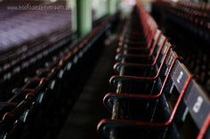 These seats are still the seats from the early 30s. So if your grandparents have a ticket from those days, they would match up! Fenway Park #Boston #Redsox