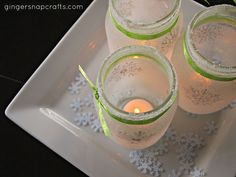 They would make a great centerpiece on a holiday table or even decoration for a winter wedding.
