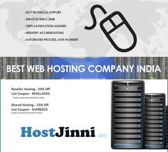 Hostjinni is providing reliable and affordable hosting services to the customers.  Click on the link given below : https://www.sitegeek.com/hostjinni It is number one web hosting provider in India. Currently, Hostjinni serves around 4500 customers and up to 30000 domains and website hosted around the world. Their hosting services include cloud servers, shared hosting, reseller hosting, VPS hosting, dedicated server and eCommerce hosting.
