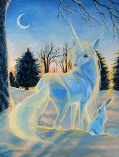 Winter Whispers by DawnUnicorn on deviantART. EL PINCEL GUIADO POR MANOS EXPERTAS LOGRAN ESTA PINTURA.