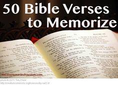 50 Best Bible Verses to Memorize ESV--Printables