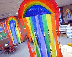 A Kindergarten Smorgasboard Schedulin Sunday - fun crafts for kids Easy - Rainbow Activities, Rainbow Crafts, Rainbow Art, Kids Rainbow, Kindergarten Crafts, Classroom Crafts, Preschool Crafts, Kindergarten Smorgasboard, Kids Crafts