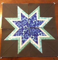 As requested, here's a tutorial for the Lone Starburst paper pieced block (for templates used see The Quilting Climber ). Please note that ...