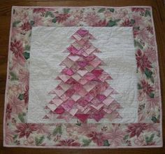 Prairie-Point Pizzazz - Quilts with New Dimension - A Collection of Quilt Patterns wedding wedding flowes Christmas Tree Quilt, Christmas Quilt Patterns, Christmas Crafts, Christmas Quilting, Pink Christmas, Xmas Tree, Christmas Stockings, Christmas Ornaments, Pink Quilts