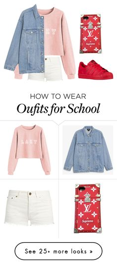 """Howe #93"" by becxx1207 on Polyvore featuring Yves Saint Laurent, Monki, adidas Originals and Louis Vuitton"