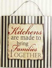 I like this saying, possibly in vinyl, for the kitchen.
