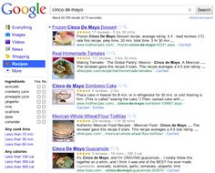 Official Blog: Slice and dice your recipe search results. How to search for a recipie based upon time and what you have in the cupboard.