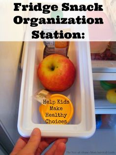 This snack station or fridge snack box helps so much when kids want snacks all the time! Picky eaters have to choose from a snack selection and snacks are within the reach of even preschoolers. Easy to organize and quick to set up for busy moms.