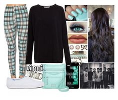 """""""{Black, White, & Blue Plaid//Linni}"""" by narrygirl421 on Polyvore featuring Wet Seal, Pull&Bear, H&M, Rosetti and Keds"""