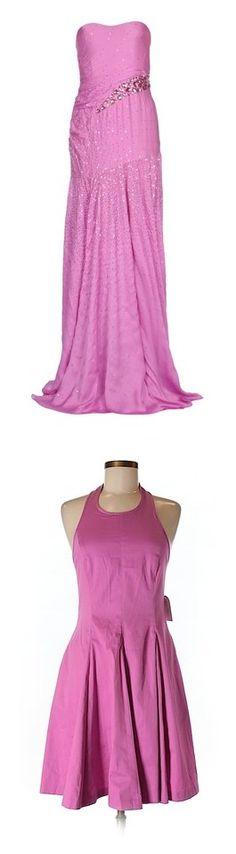 """Purple-Pink Bubblegum Dresses"" by tegan-b-riley on Polyvore featuring dresses, light purple, long dresses, lavender sequin dress, deep v-neck dress, zipper dress, pink dress, pink, purple dresses and cotton dress"