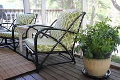 """The Chronicles of Home: Spray Painting """"Vintage"""" Porch Furniture"""