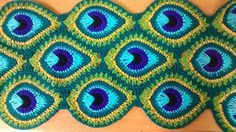 Java Peacock Feather by TheCurioCraftsRoom with Free join-as-you-go Instructions Afghan Crochet Patterns, Crochet Stitches, Peacock Crochet, Peacock Feathers, Crochet Crafts, Arts And Crafts, My Design, Knitting, Blog
