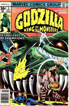 Godzilla 3 1st Series October 1977  Marvel Comics  Grade VF