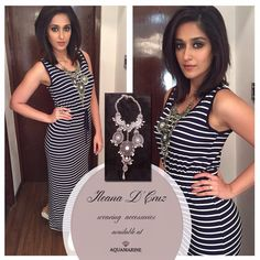 Ileana D'Cruz wearing a gorgeous silver neckpiece by Aquamarine for the Reliance Trends event. Styled by Richa Mehta. Buy this and more celeb favourite accessories at all our stores. #aquamarine_jewellery #jewellery #ileanadcruz #richamehta #style #aquamarinejewellery #fashion