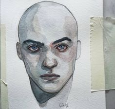 Oneman #watercolor #drawing