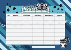 Cool-Claus Freebie, Stundenplan und Etiketten