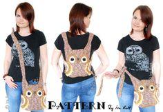 Hooty the Owl Buddy, 3 in 1 Bag, Backpack, Belt Pouch, Purse Cochet Pattern PDF