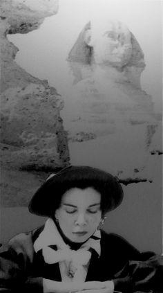 #leonorfini #fini #egypt #sphinx #surrealist #artist #womansurrealist #painter #iconic #contemplation
