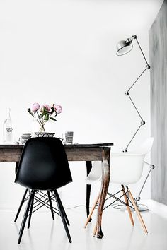 Rustic Table & Modern Chairs