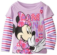 Disney Little Girls' Minnie Mouse Stripe Long Sleeve Tee, Lovely Purple, 2T Disney http://www.amazon.com/dp/B00KRDPOPG/ref=cm_sw_r_pi_dp_Wckrub056JVXD