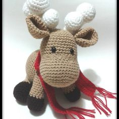 RENO AMIGURUMI - Juguete - Aldea Reno, Crocheting, Hello Kitty, Fictional Characters, Amigurumi, Crochet, Fantasy Characters, Knits, Lace Knitting