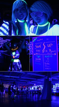 More pics of black light/glow party