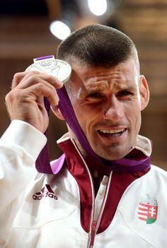 First Hungarian silver - Ungvári Miklós Judo, Taekwondo, Jiu Jitsu, Hungary, Southern Prep, London, Retro, Sports, Silver