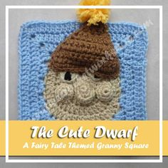 Get the free crochet pattern for The Cute Dwarf, the 13th in a compilation of granny squares designed around a Fairy Tale theme by Creative Crochet Workshop