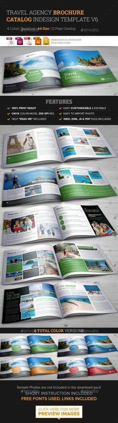 Travel Brochure Catalog InDesign Template v6 Indesign templates - travel brochure