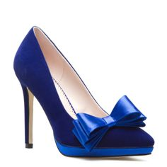 Gorgeous #blue pump with #bow