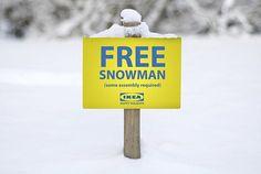 Gratis snögubbe från IKEA