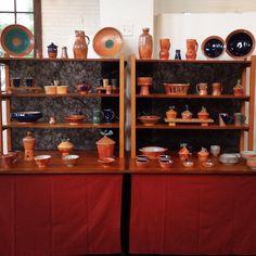 Pottery display ideas