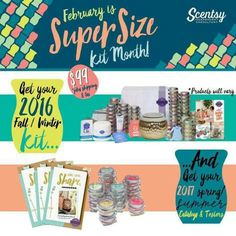 Join Scentsy in February for $99, and get 2 kits! Transition Month! Message me for more info. ☺