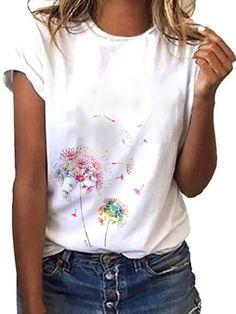 Casual Tops For Women, Blouses For Women, T Shirts For Women, Ladies Tops, Retro Sweatshirts, Look Fashion, Womens Fashion, Fashion Styles, Shirt Bluse