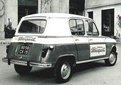 Renault 4L Cognac Bisquit company car