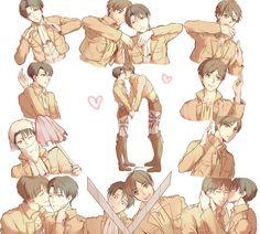 Eren x Levi. GWAAAAH! IT'S A HEART! A HEART! *cries with joy*