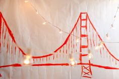 Make your own Golden Gate Bridge Backdrop! | Oh Happy Day!