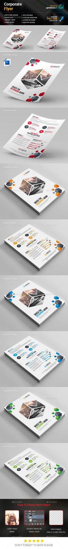 Corporate Business Flyer Template PSD. Download here: https://graphicriver.net/item/corporate-business-flyer/17033300?ref=ksioks