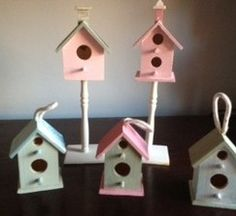 Painted Wooden Birdhouses