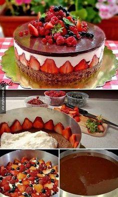 Bunter Obstkuchen