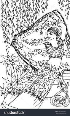Indian woman illustration   Shutterstock 409408615