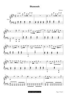 """Özel Piyano Dersi: Diamonds Piyano Notaları """"Rihanna"""""""