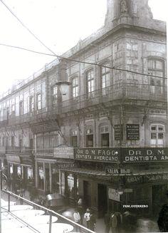 Calle de San Francisco(Madero) y  Vergara(Bolivar), se encuentra una construccion Virreinal(1775), la Casa Borda del rico minero novohispano Don Jose de la Borda, ahi estuvo el primer cine de Mexico, el Salon Rojo(1906), donde estuvo el primer cinematografo. ca. 1910