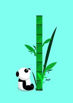 Panda Bamboo Art Print by Haych | Society6