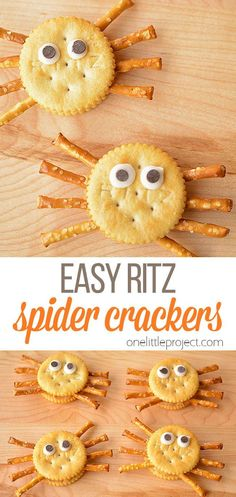 These Ritz cracker spiders are SO EASY! They only take a few minutes to make, and really don't take any more time to make than a regular lunch!