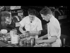 Sorting Checking & Packing Grocery Orders in Self-Serve Store 1940s Industrial Engineering Film: http://youtu.be/Fsh-2WQbnPc #Grocery #retail