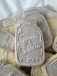 Kristen's Cookies: Mason Jar cookies via #TheCookieCutterCompany
