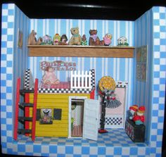 Mary Engelbreit Bedroom one side of  A little Dab Roombox